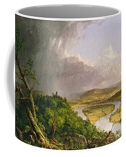 Coffee Mug featuring the painting View From Mount Holyoke Northampton Massachusetts After A Thunderstorm. The Oxbow by Thomas Cole