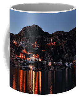 View From The Harbor St Johns Newfoundland Canada At Dusk Coffee Mug