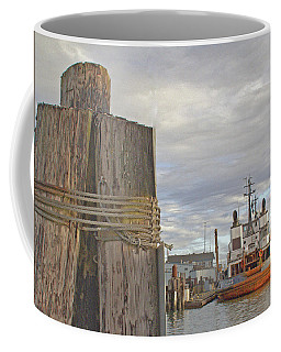 View From The Pilings Coffee Mug
