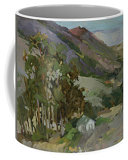 View From The Reservoir - Catalina Island Coffee Mug