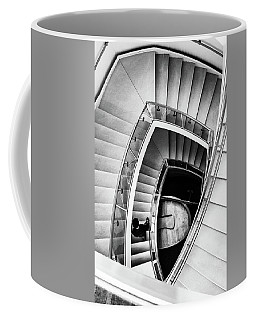 View From The Top Of A Stairwell At The Overture Center Coffee Mug