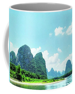 A Moment On Li River Coffee Mug