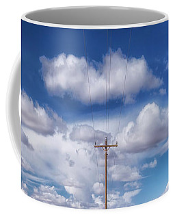 View Of A Phone Pole Coffee Mug by Gary Warnimont
