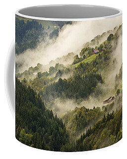 View Of Alpine Landscape. France. Coffee Mug