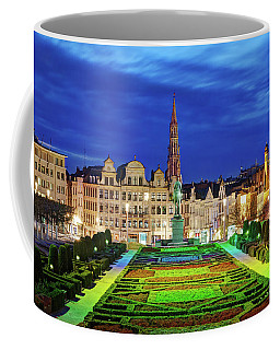 View Of Brussels From Jardin Du Mont Des Arts Coffee Mug