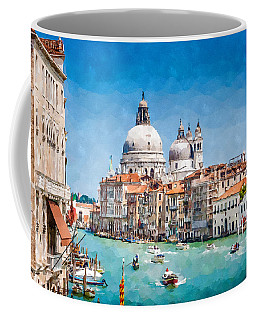 View Of Canal Grande Coffee Mug by Kai Saarto