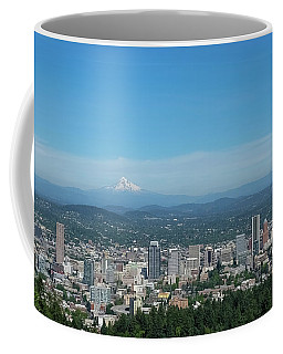 Coffee Mug featuring the photograph View Of Downtown Portland Oregon From Pittock Mansion by Robert Bellomy
