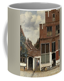 View Of Houses In Delft, Known As The Little Street Coffee Mug
