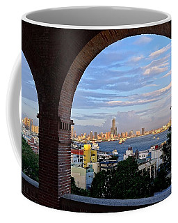 Coffee Mug featuring the photograph View Of Kaohsiung City At Sunset Time by Yali Shi