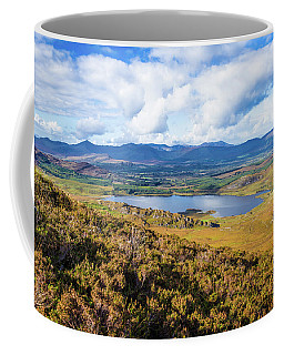 Coffee Mug featuring the photograph View Of Lough Acoose In Ballycullane From The Foothill Of Macgil by Semmick Photo