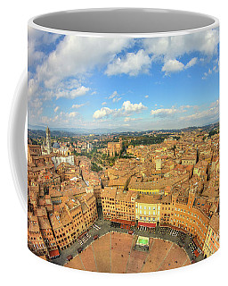 Coffee Mug featuring the photograph View Of Siena From Torre Del Mangia by Spencer Baugh