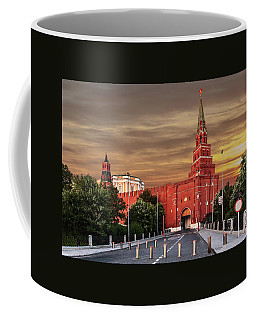 View Of The Borovitskaya Tower Of The Moscow Kremlin Coffee Mug