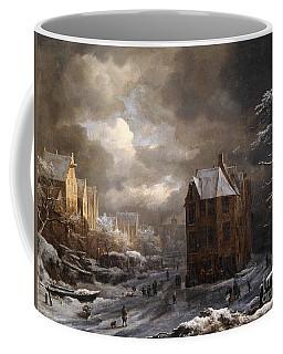 View Of The Hekelveld, Amsterdam, In Winter, Looking South Coffee Mug