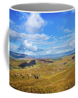 Coffee Mug featuring the photograph View Of The Mountains And Valleys In Ballycullane In Kerry Irela by Semmick Photo
