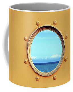 View Of The Ocean Through A Porthole Coffee Mug
