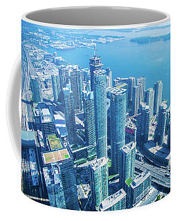 View Of Toronto Waterfront From Cn Tower Coffee Mug