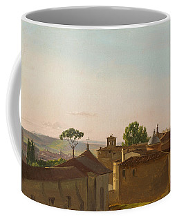 Coffee Mug featuring the painting View On The Quirinal Hill. Rome by Simon Denis