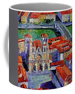 View Over Cathedral Saint Jean Lyon Coffee Mug