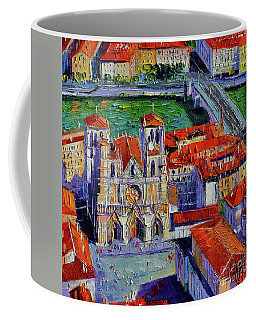 View Over Cathedral Saint Jean Lyon Coffee Mug