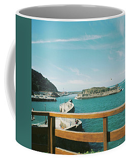 View Over The Ocean Port Coffee Mug
