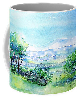 Coffee Mug featuring the painting View Through The Gap,wicklow  by Trudi Doyle