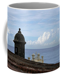 View To The Sea From El Morro Coffee Mug by Lois Lepisto
