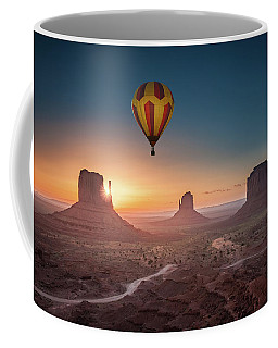 Coffee Mug featuring the photograph Viewing Sunrise At Monument Valley by William Lee