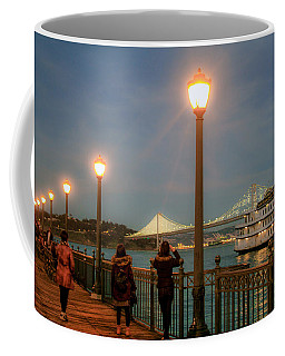 Viewing The Bay Bridge Lights Coffee Mug