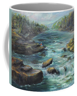Viewing The Rapids Coffee Mug