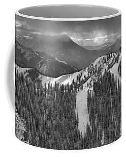 Views From The Western Trail Black And White Coffee Mug