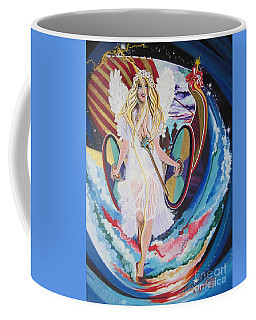 Viking Goddess Arrives In Egypt Coffee Mug