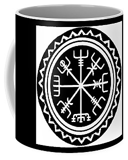 Viking Vegvisir Compass Coffee Mug by Vagabond Folk Art - Virginia Vivier