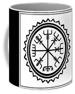 Viking Vegvisir Protection Compass Coffee Mug by Vagabond Folk Art - Virginia Vivier