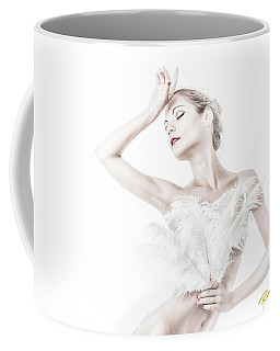Coffee Mug featuring the photograph Viktory In White - Feathered by Rikk Flohr