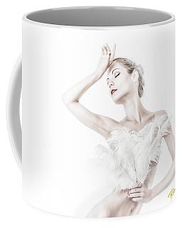 Viktory In White - Feathered Coffee Mug by Rikk Flohr