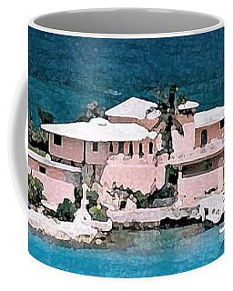 Villa On The Peninsula Coffee Mug by Donna Corless