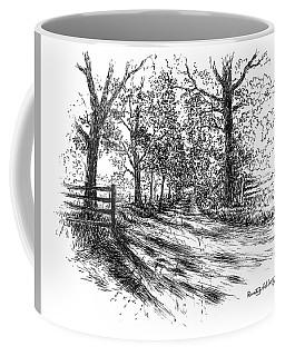 Villa Road At Sunset Coffee Mug