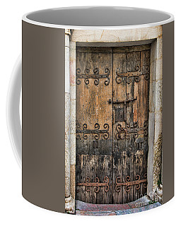 Village Chateau French Old Ancient Door Color  Coffee Mug