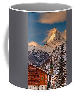 Village Of Zermatt With Matterhorn Coffee Mug