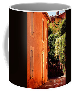 Coffee Mug featuring the photograph Village Street In Provence by Olivier Le Queinec