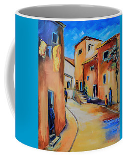 Village Street In Tuscany Coffee Mug