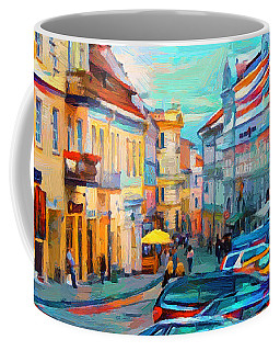 Vilnius At Paint Coffee Mug