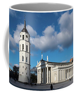 Vilnius Bell Tower And Cathedral Coffee Mug