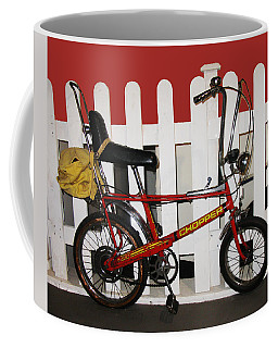 Vintage 1970s Bike With Rucksack  Coffee Mug