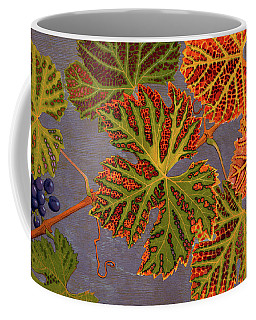 Vine Leaves And Ripened Grapes Coffee Mug