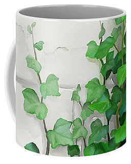 Coffee Mug featuring the painting Vines By The Wall by Ivana
