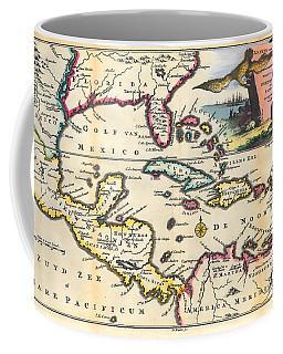 Vintage 1747 Gulf Of Mexico Map Coffee Mug