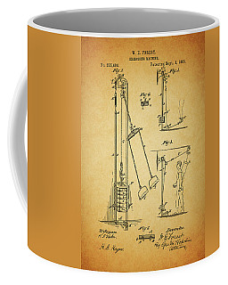 Vintage 1885 Exercising Device Patent Coffee Mug by Dan Sproul