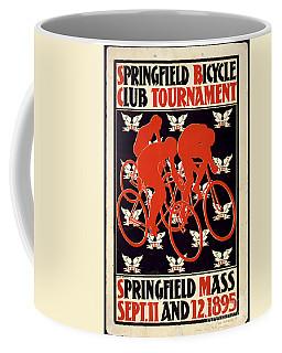 Vintage 1895 Springfield Bicycle Club Poster Coffee Mug by John Stephens