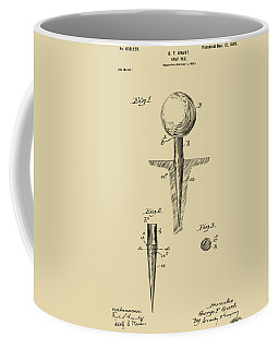 Vintage 1899 Golf Tee Patent Artwork Coffee Mug